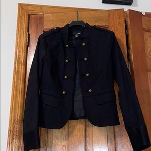 H & M brass button military blazer